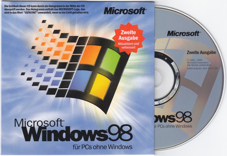 Free Operating System and other Downloads: Windows 98 Second