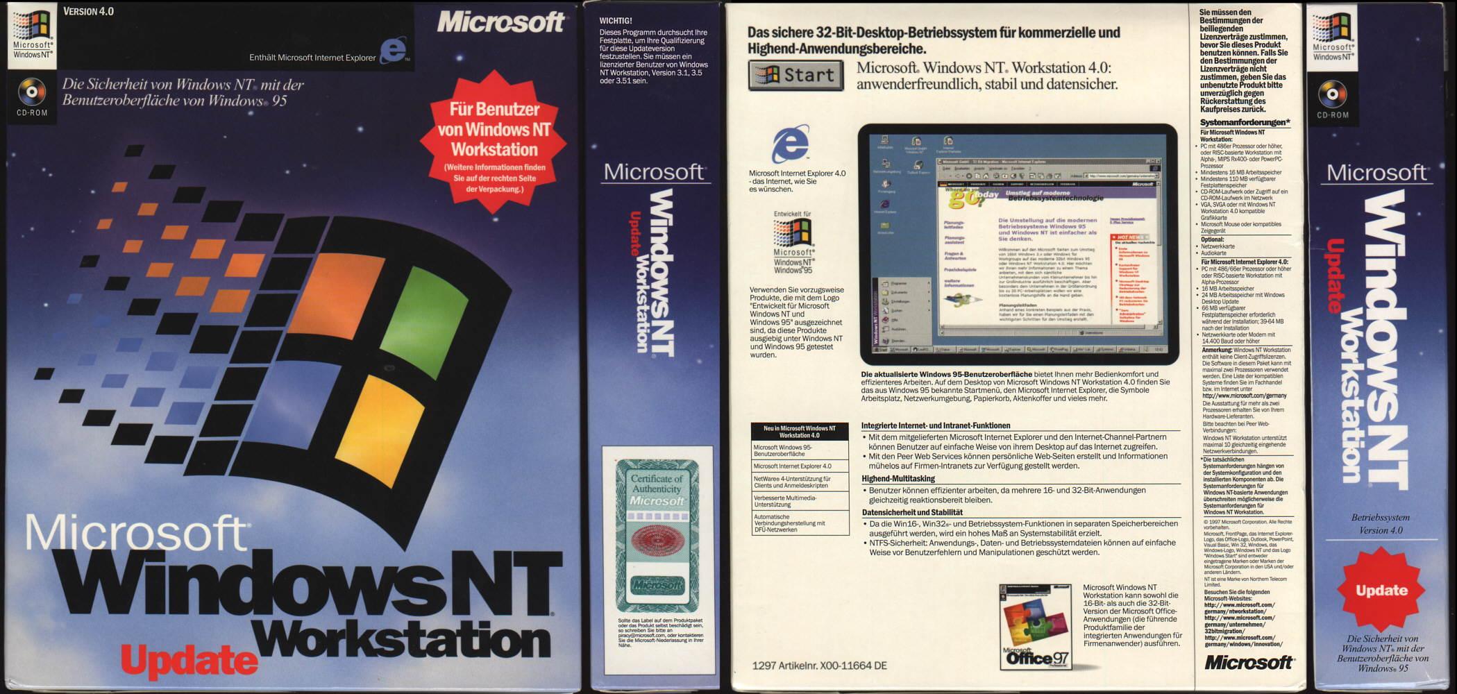 the history of microsoft windows nt server
